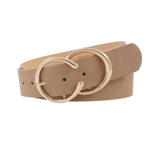 Taupe Double Ring Belt
