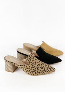 Cheetah Mule Wedge