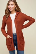 Load image into Gallery viewer, Rusty Lace Up Cardi -Medium