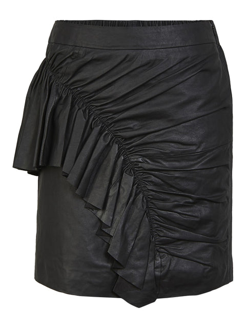 Yasbea MW Mini Leather Skirt