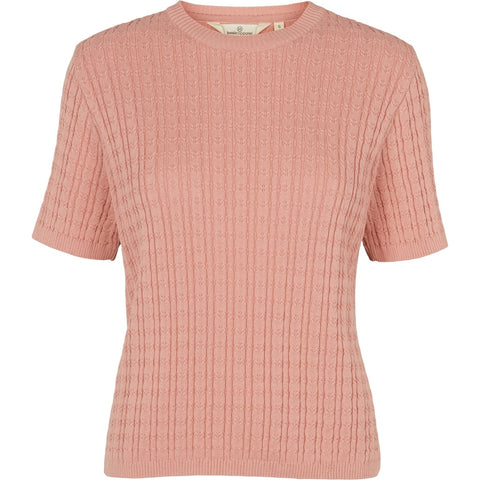 Basic Apparel Aline SS Sweater Rose Tan