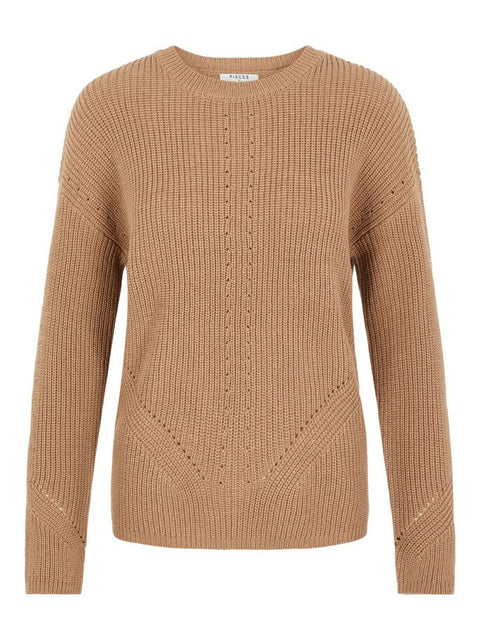 PcKarie LS O-Neck Knit Natural