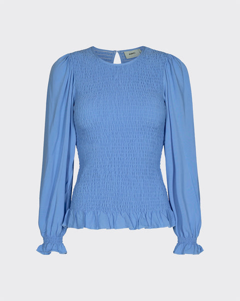 Danima Ls Blouse Blue