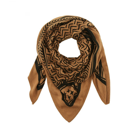PcSovis Wool Square Scarf Toasted Coconut