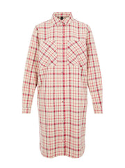 YasEbru LS Checked Long Shirt Dress