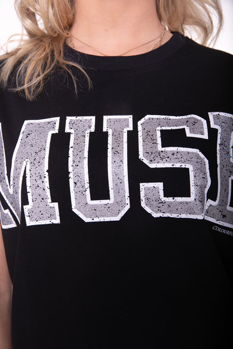 Muse Boxy Tee Black