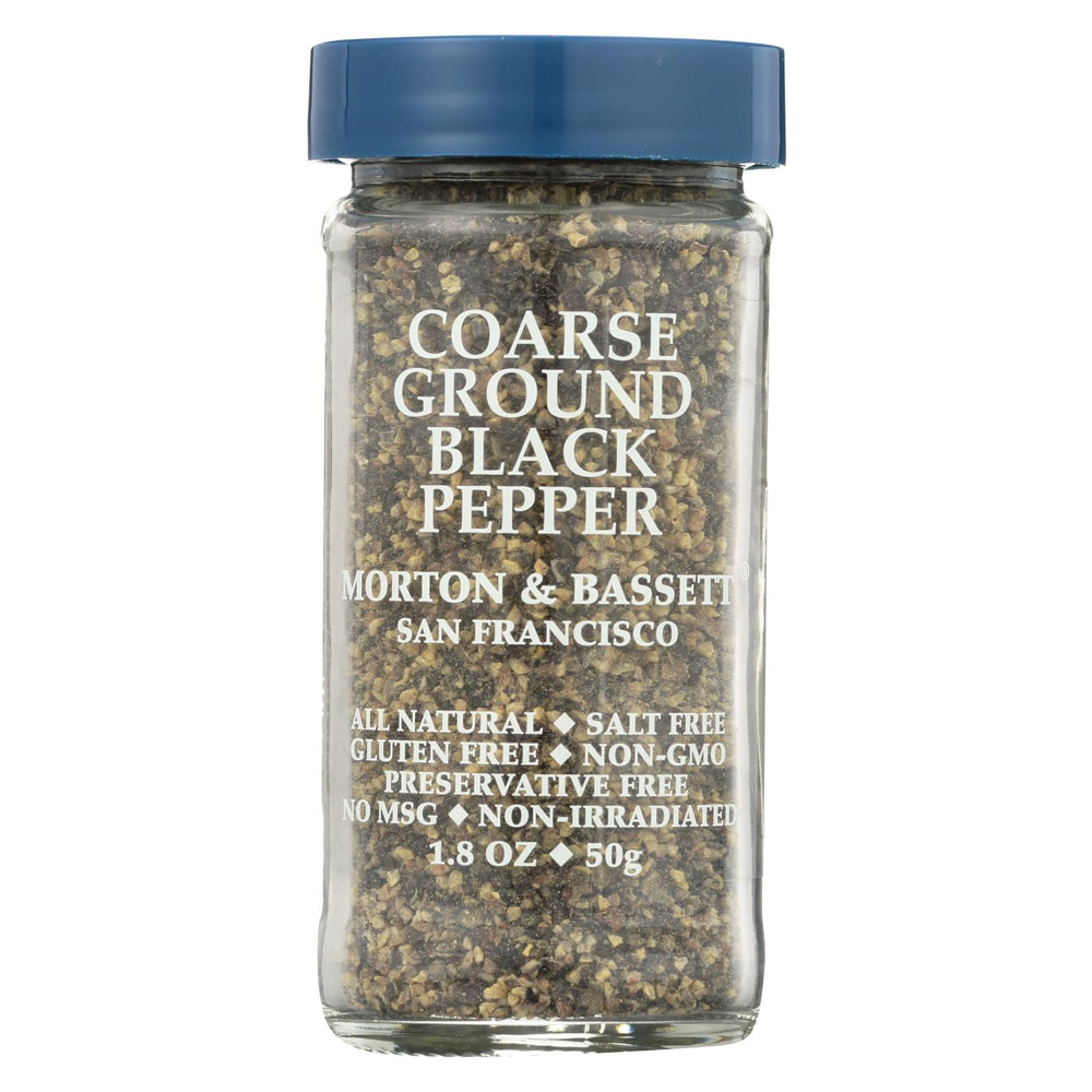 Morton And Bassett - Seasoning - Course Ground Black Pepper - Case Of 3 - 2.1 Oz.