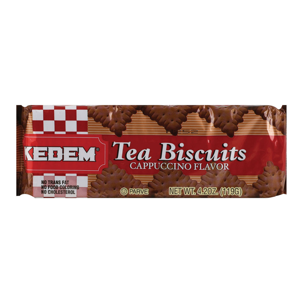 Kedem Tea Biscuits - Cappuccino - Case Of 24 - 4.2 Oz.