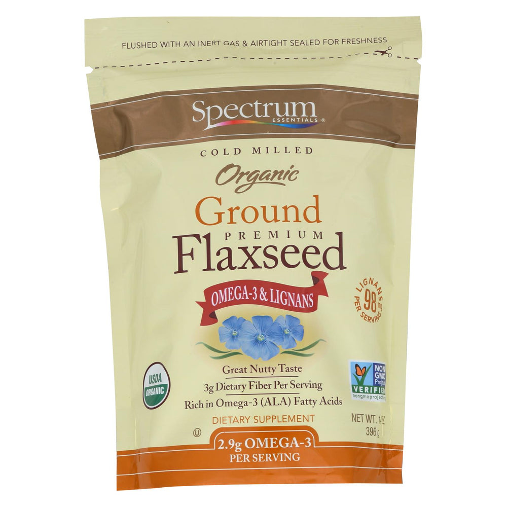 Spectrum Essentials Organic Ground Flaxseed - 14 Oz