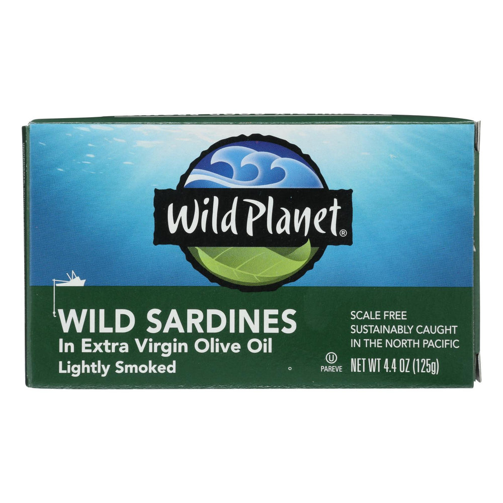 Wild Planet Wild Sardines In Extra Virgin Olive Oil - Case Of 12 - 4.375 Oz.