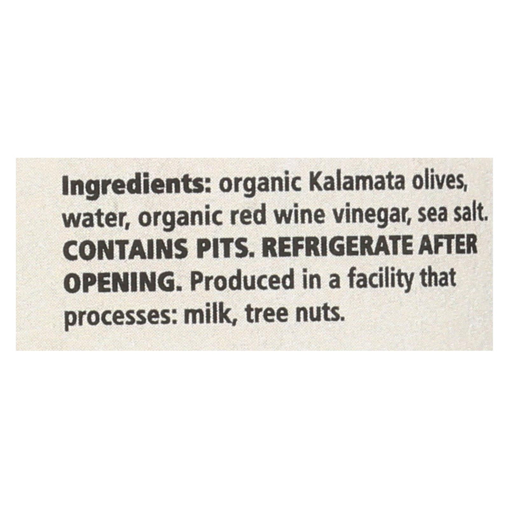 Divina - Organic Kalamata Olives - Case Of 6 - 6.35 Oz.