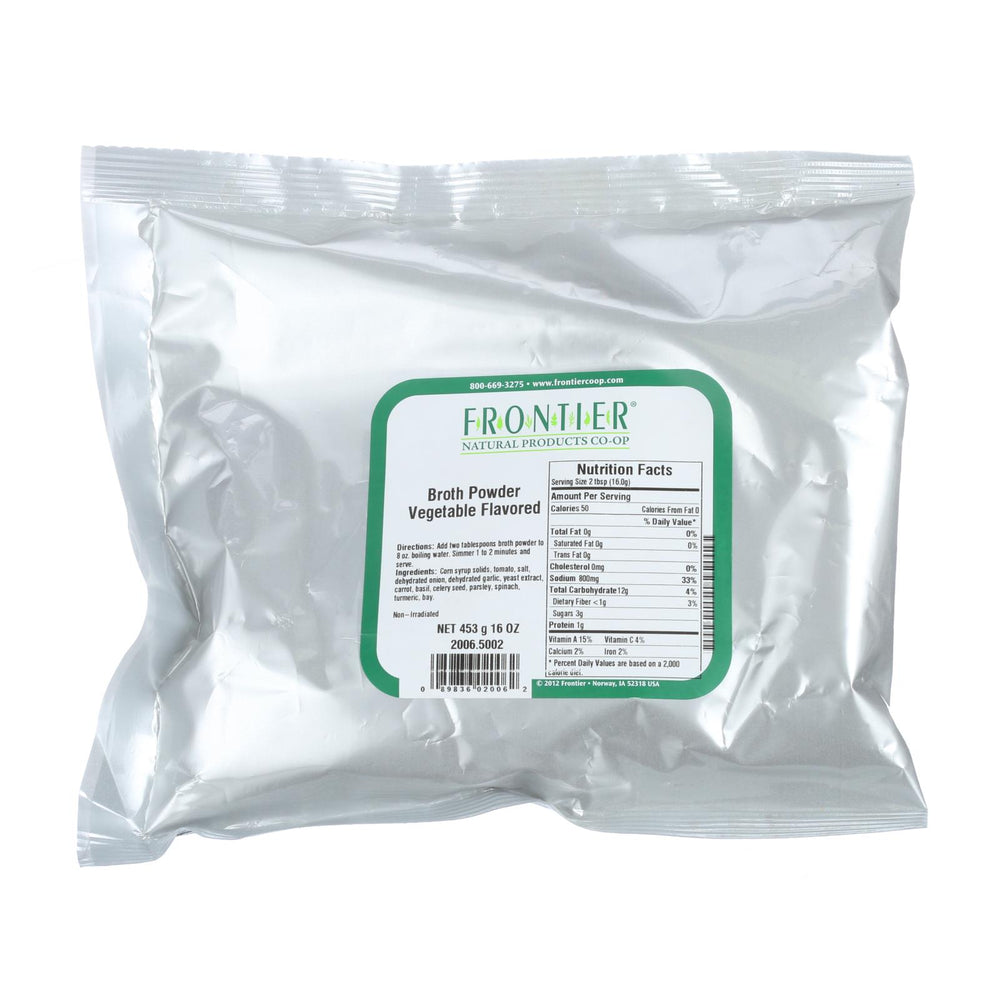 Frontier Herb Broth Powder - Vegetable Flavored - Bulk - 1 Lb