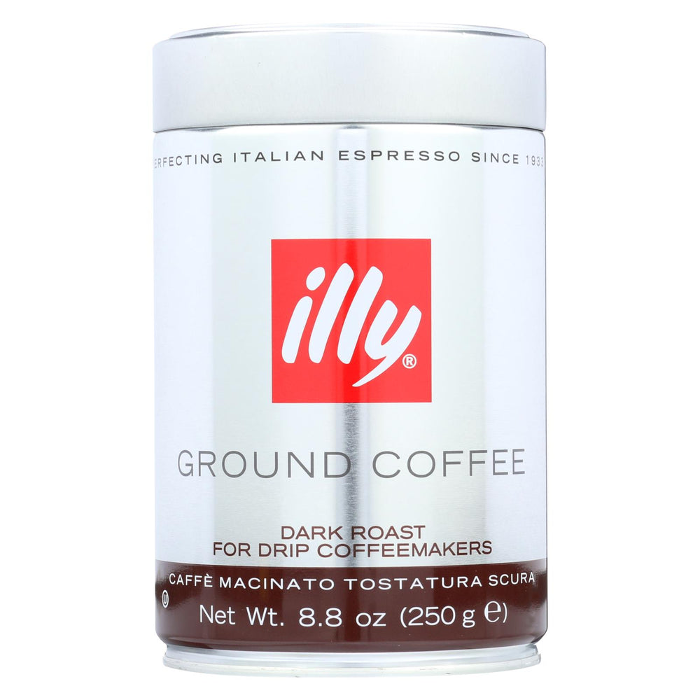 Illy Caffe Coffee Coffee - Drip - Ground - Dark Roast - 8.8 Oz - Case Of 6