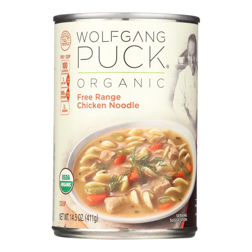Wolfgang Puck Organic Free Range Chicken Noodle Soup - Case Of 12 - 14.5 Oz.