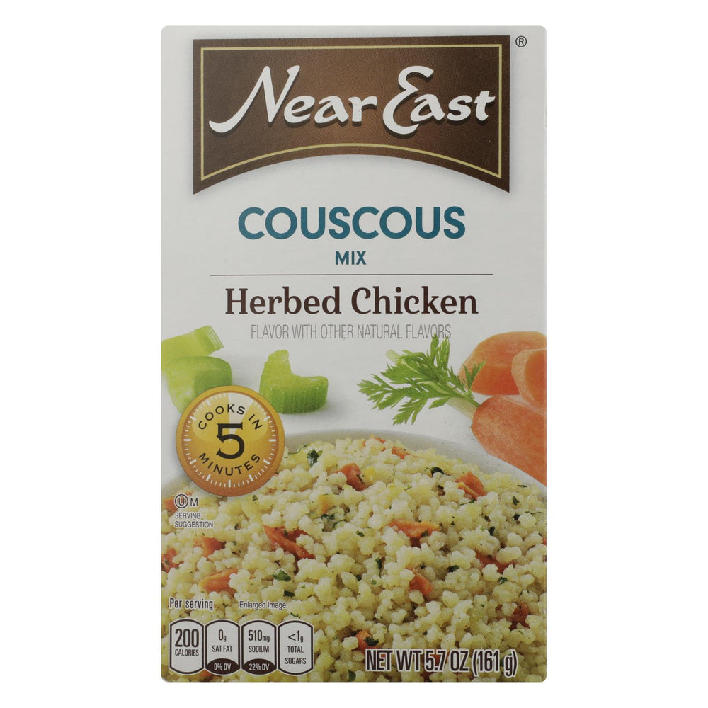 Near East Couscous Mix - Herb Chicken - Case Of 12 - 5.7 Oz.