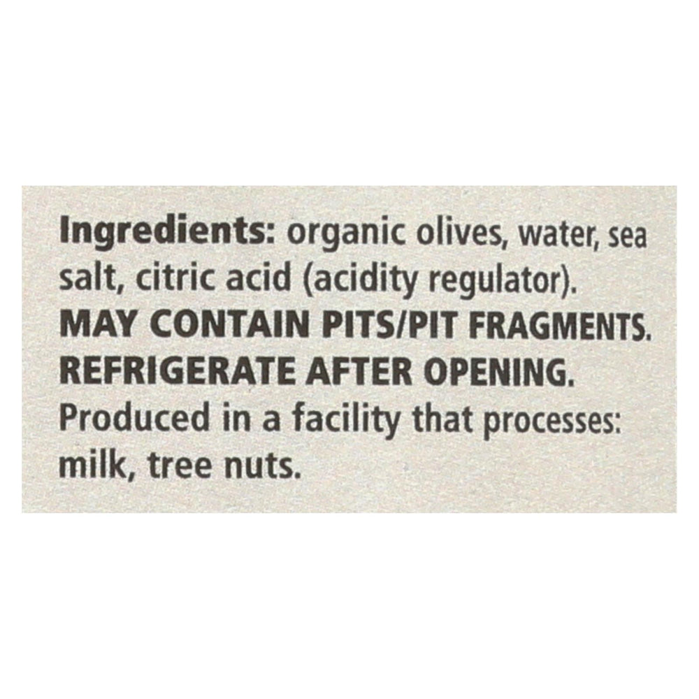 Divina - Organic Pitted Green Olives - Case Of 6 - 6 Oz.