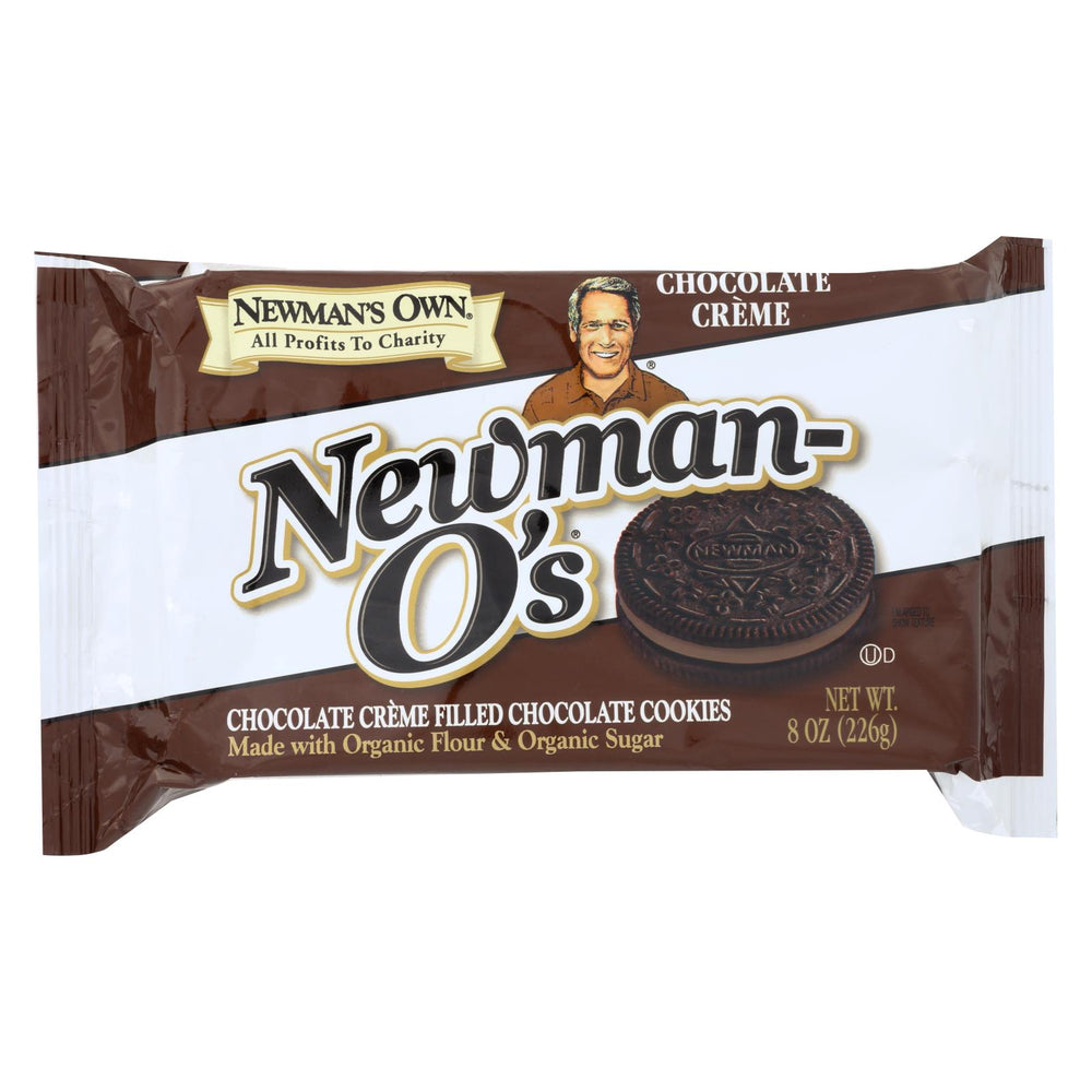 Newman's Own Organics Creme Filled Chocolate Cookies - Chocolate - Case Of 6 - 8 Oz.
