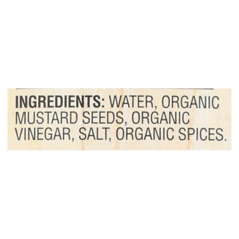 Woodstock Organic Mustard - Stoneground - Case Of 12 - 8 Oz.