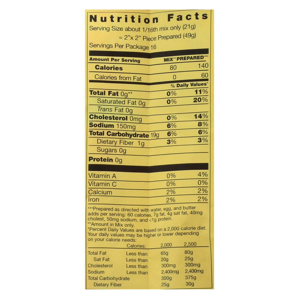 Pamela's Products - Cornbread And Muffin - Mix - Case Of 6 - 12 Oz.