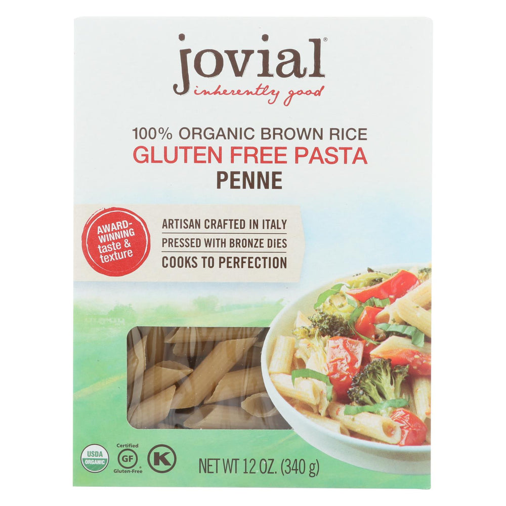 Jovial - Pasta - Organic - Brown Rice - Penne Rigate - 12 Oz - Case Of 12