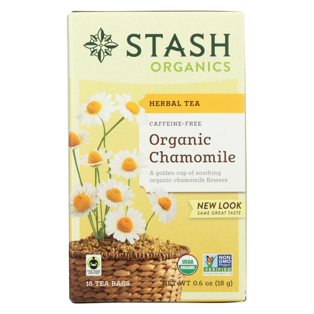 Stash Tea Organic Herbal Tea - Chamomile - Case Of 6 - 18 Bags