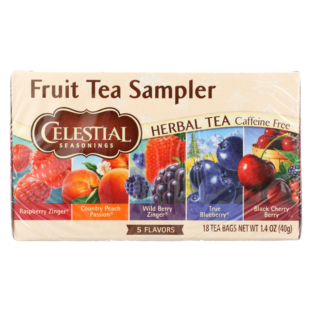 Celestial Seasonings Herbal Tea - Fruity Variety Pack - Case Of 6 - 18 Bag