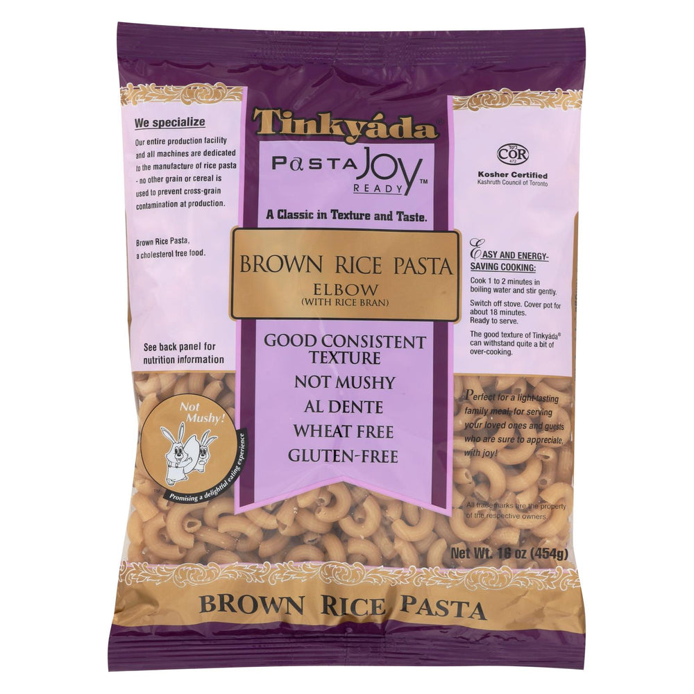 Tinkyada Brown Rice Elbows - Case Of 12 - 16 Oz