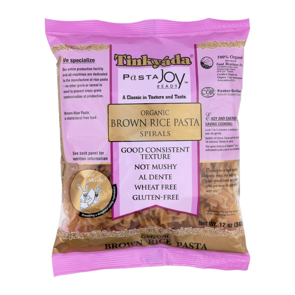 Tinkyada Brown Rice Pasta - Spiral - Case Of 12 - 12 Oz