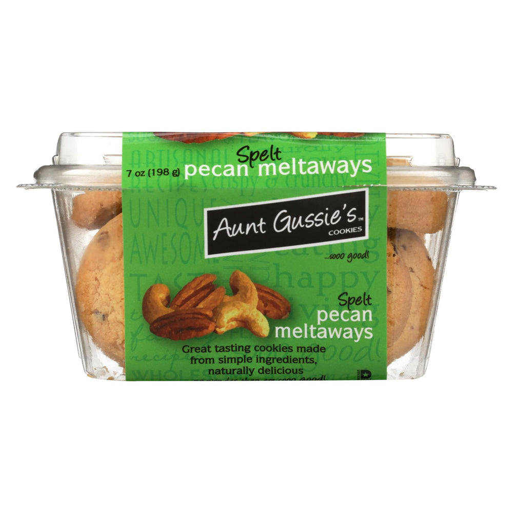 Aunt Gussie's Pecan Meltaways - Sugar Free - Case Of 8 - 7 Oz.