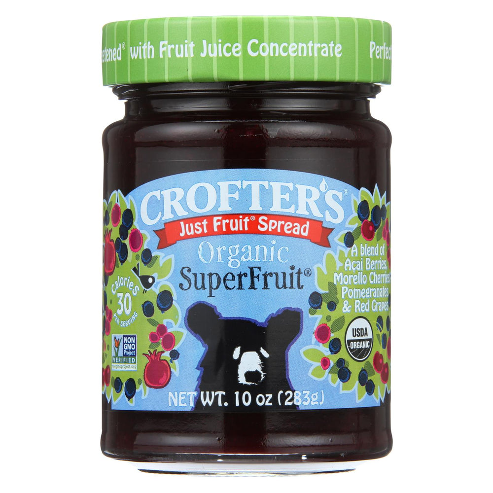 Crofters Fruit Spread - Organic - Just Fruit - Superfruit - 10 Oz - Case Of 6