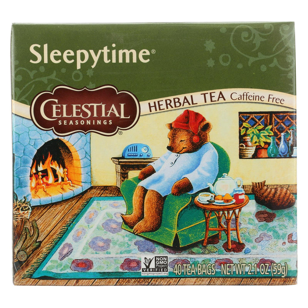 Celestial Seasonings Herbal Tea - Sleepytime - Caffeine Free - Case Of 6 - 40 Bags