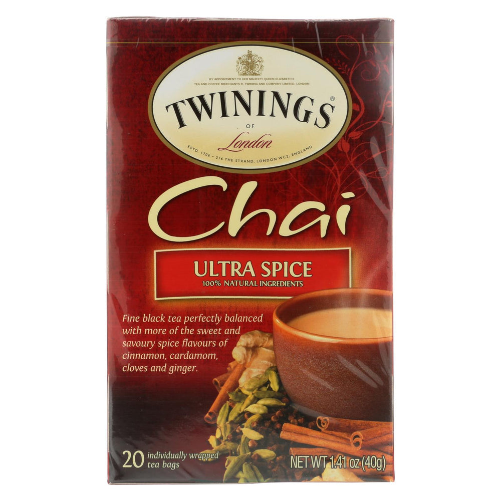 Twining's Tea Chai - Ultra Spice - Case Of 6 - 20 Bags