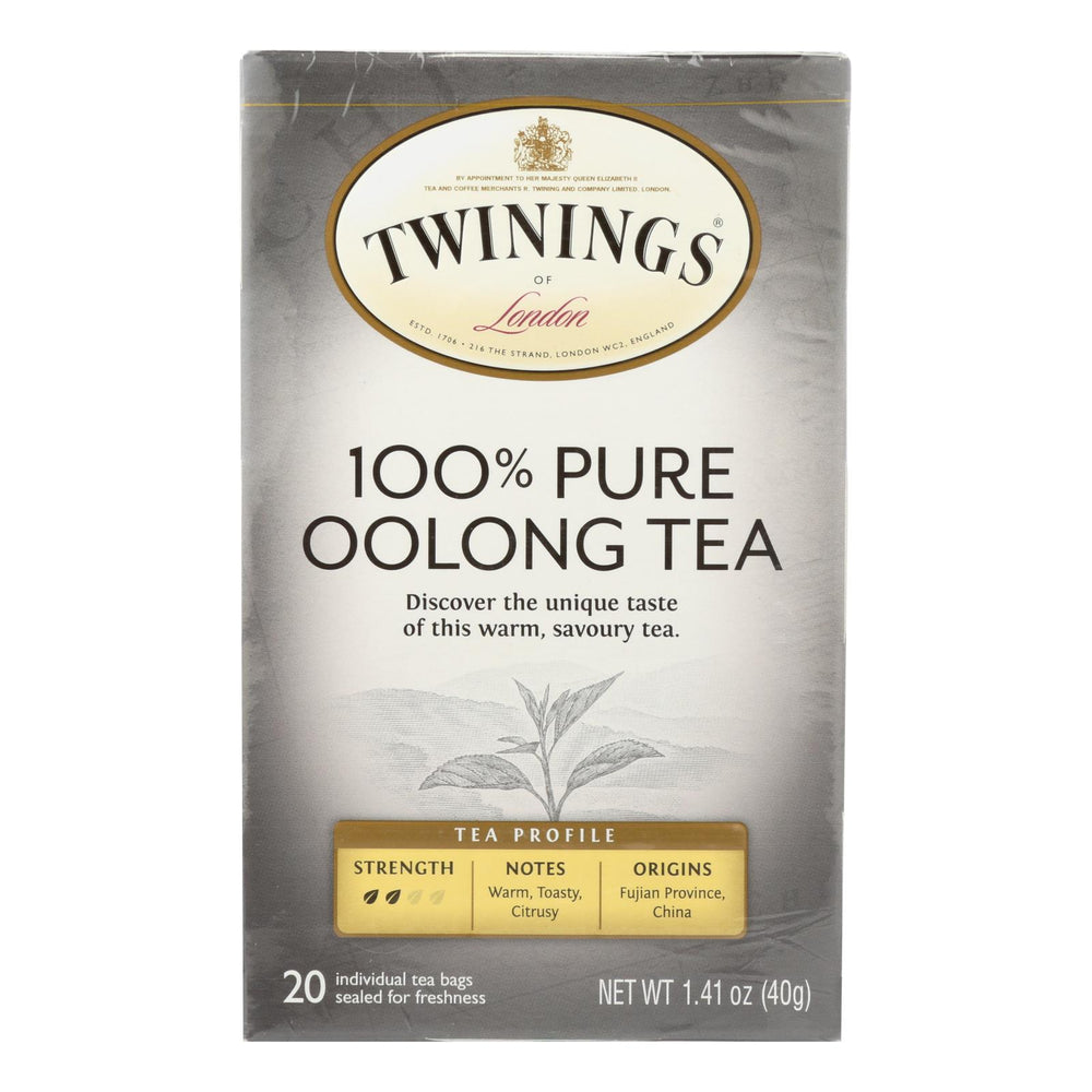Twining's Tea Black Tea - China Oolong - Case Of 6 - 20 Bags