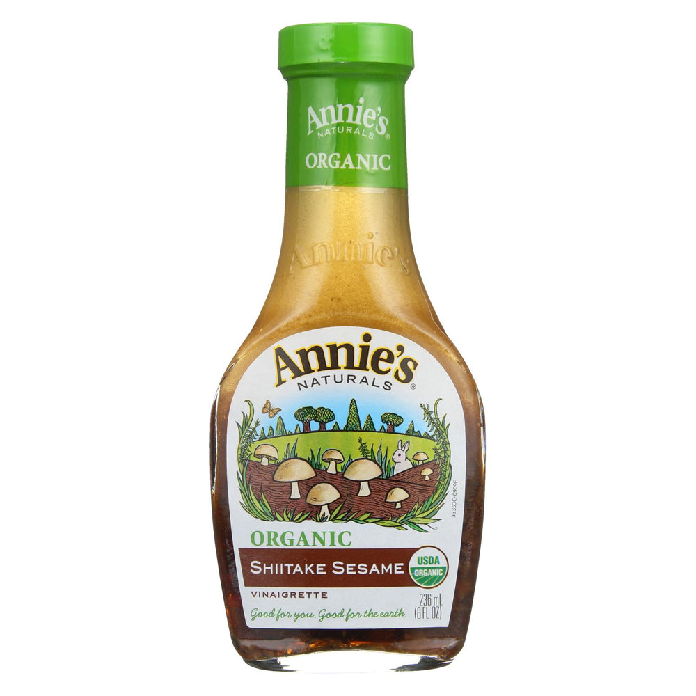 Annie's Naturals Vinaigrette Shiitake And Sesame - Case Of 6 - 8 Fl Oz.