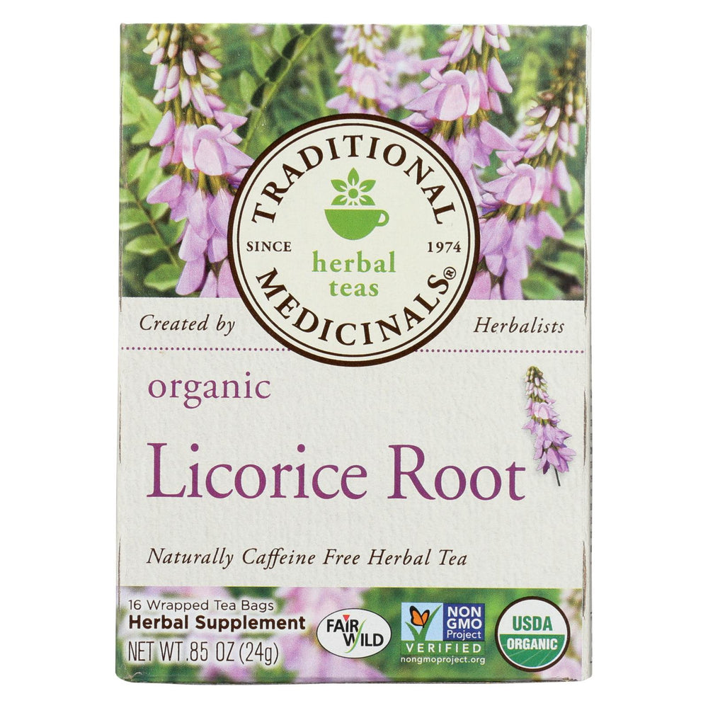 Traditional Medicinals Organic Licorice Root Herbal Tea - 16 Tea Bags - Case Of 6
