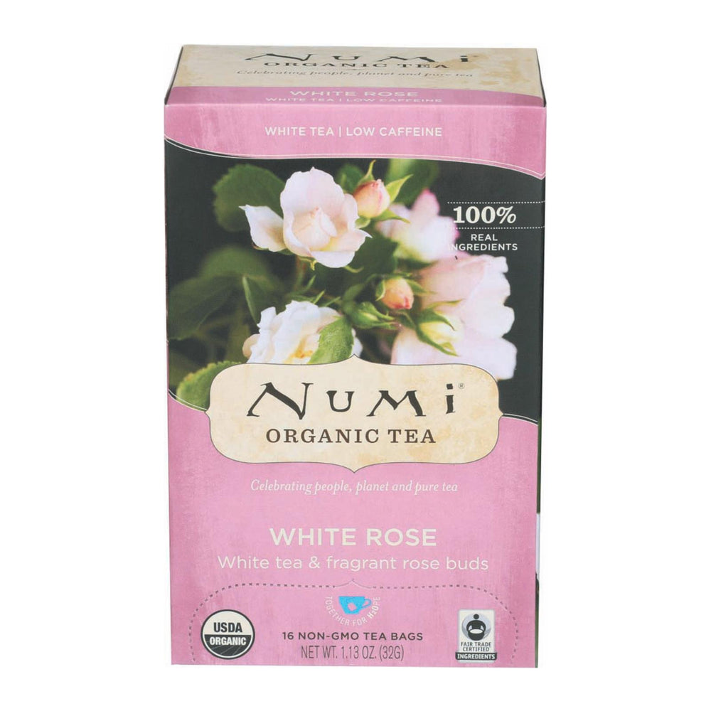 Numi Tea White Tea - White Rose - Case Of 6 - 16 Bags
