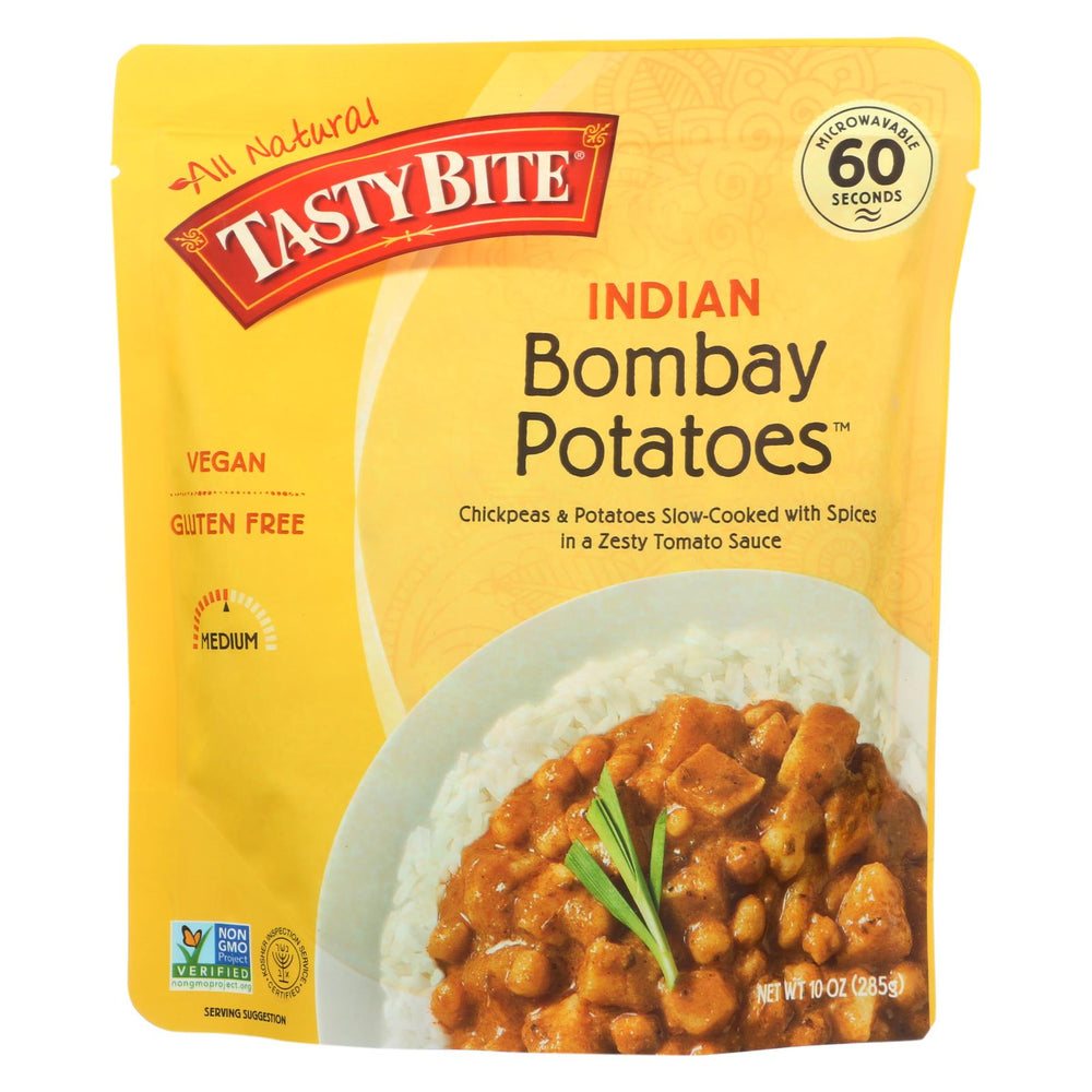 Tasty Bite Entree - Indian Cuisine - Bombay Potatoes - 10 Oz - Case Of 6