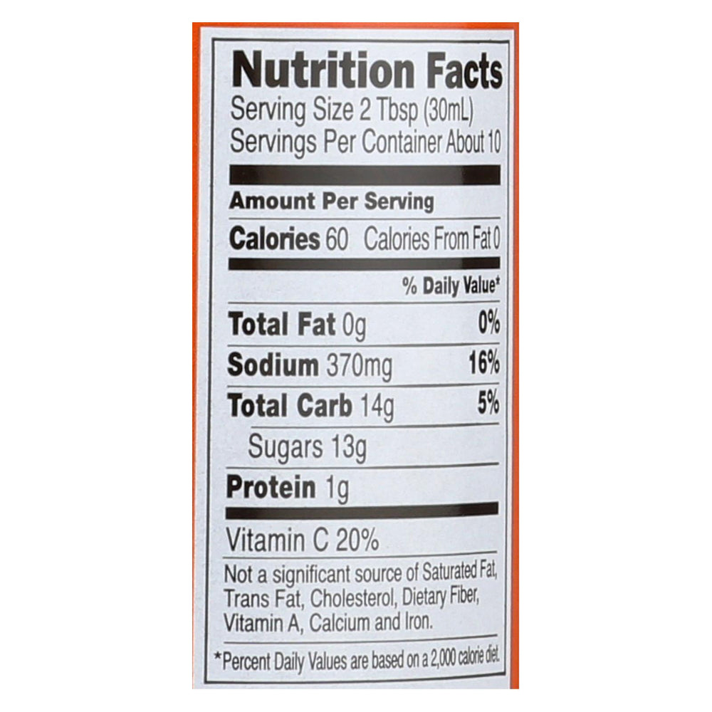 San - J Cooking Sauce - Orange - Case Of 6 - 10 Fl Oz.