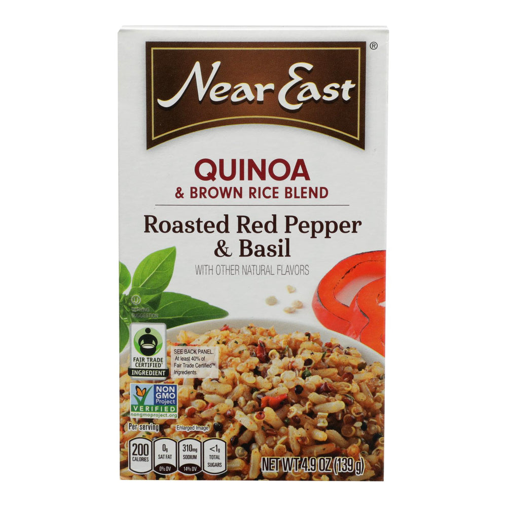 Near East Quinoa Blend - Roasted Red Pepper And Basi - Case Of 12 - 4.9 Oz.