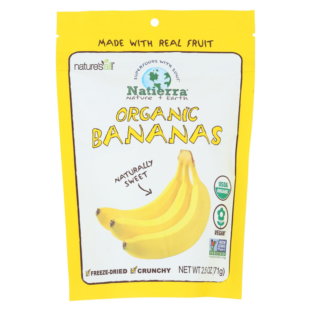 Natierra Organic Freeze Dried Raw - Banana - Case Of 12 - 2.5 Oz.