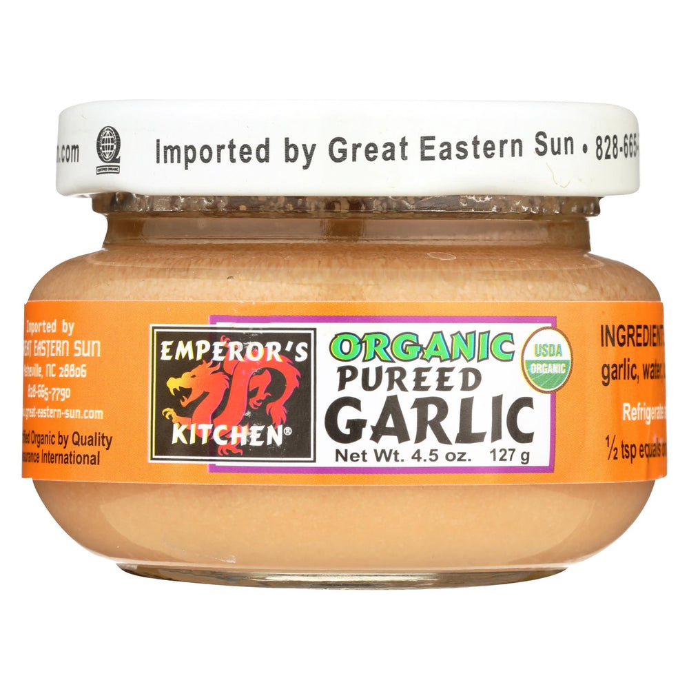Emperor's Kitchen Organic Garlic - Pureed - Case Of 12 - 4.5 Oz.