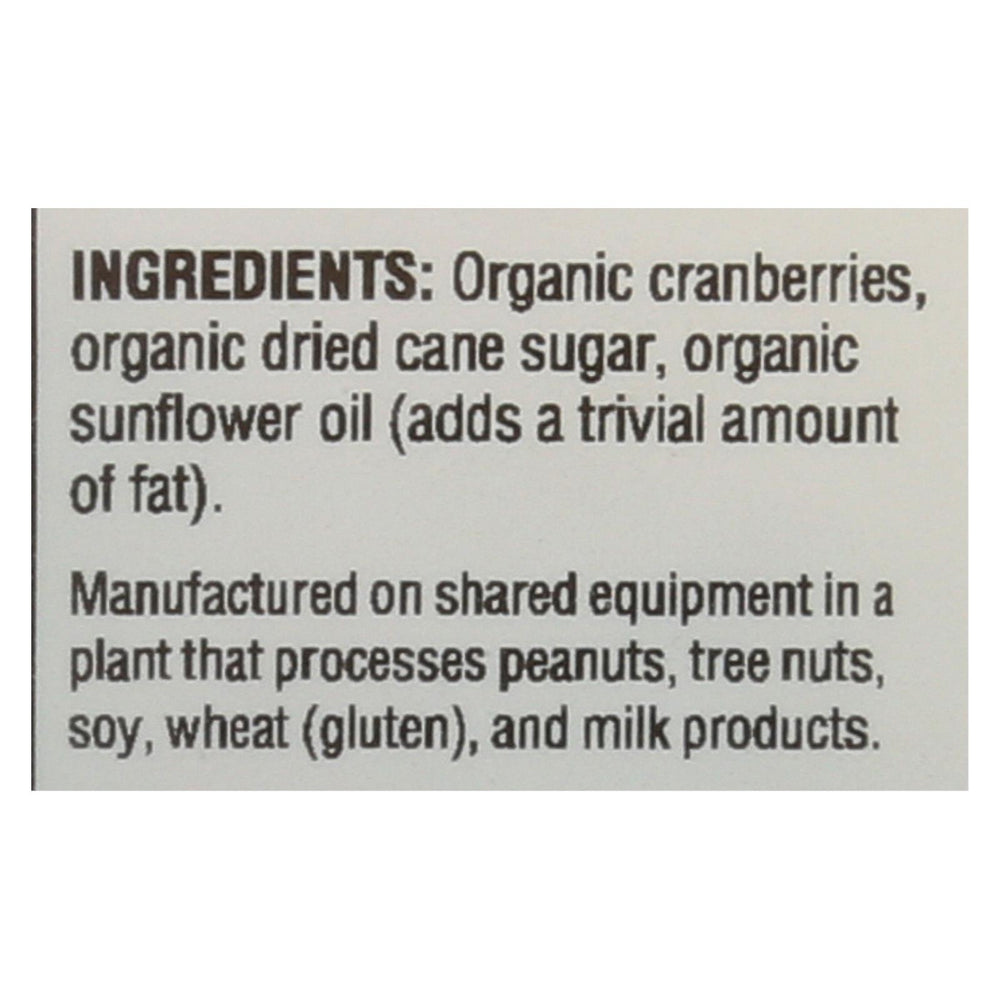 Woodstock Organic Cranberries - Sweetened - Case Of 8 - 5.25 Oz.