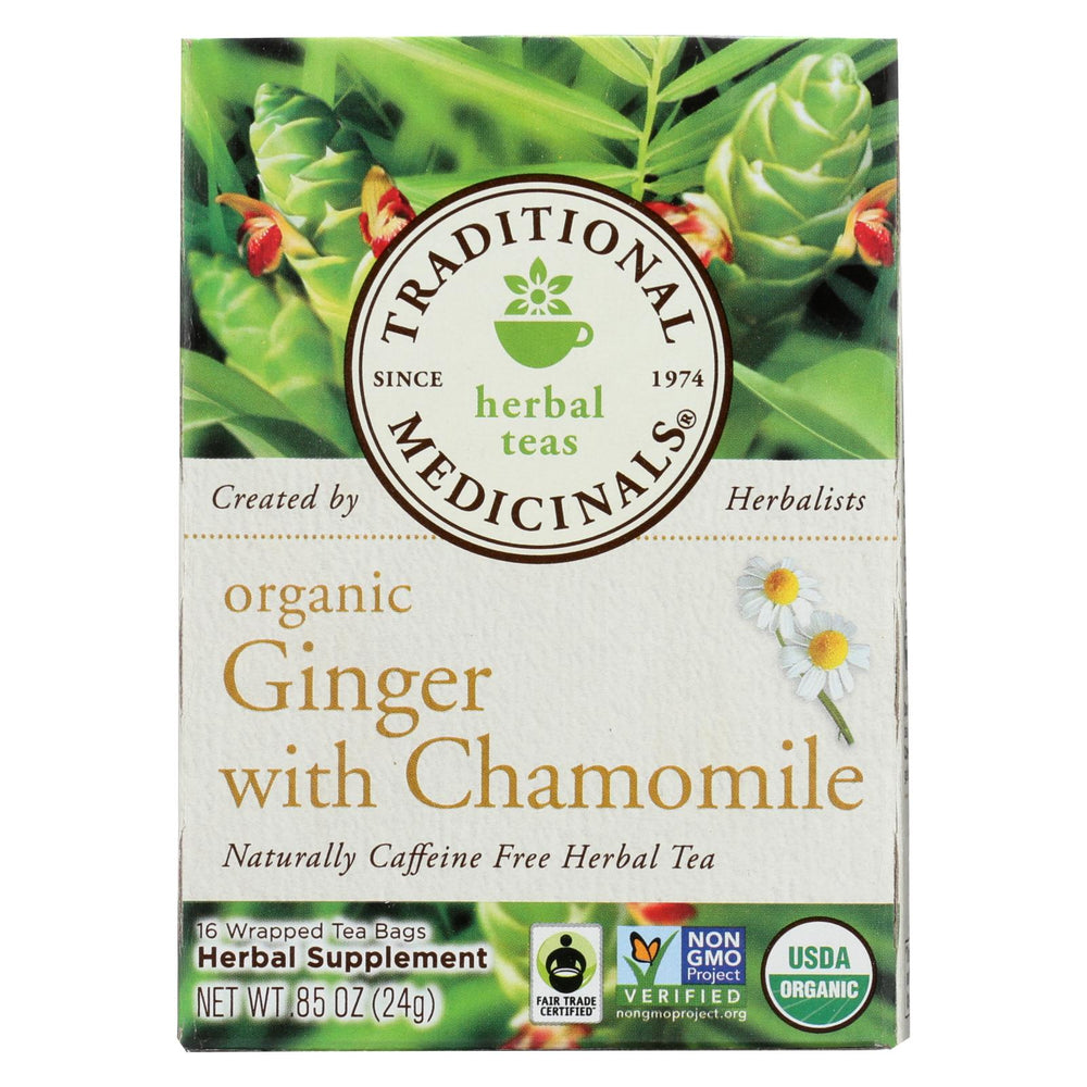 Traditional Medicinals Organic Golden Ginger Tea - Case Of 6 - 16 Bags