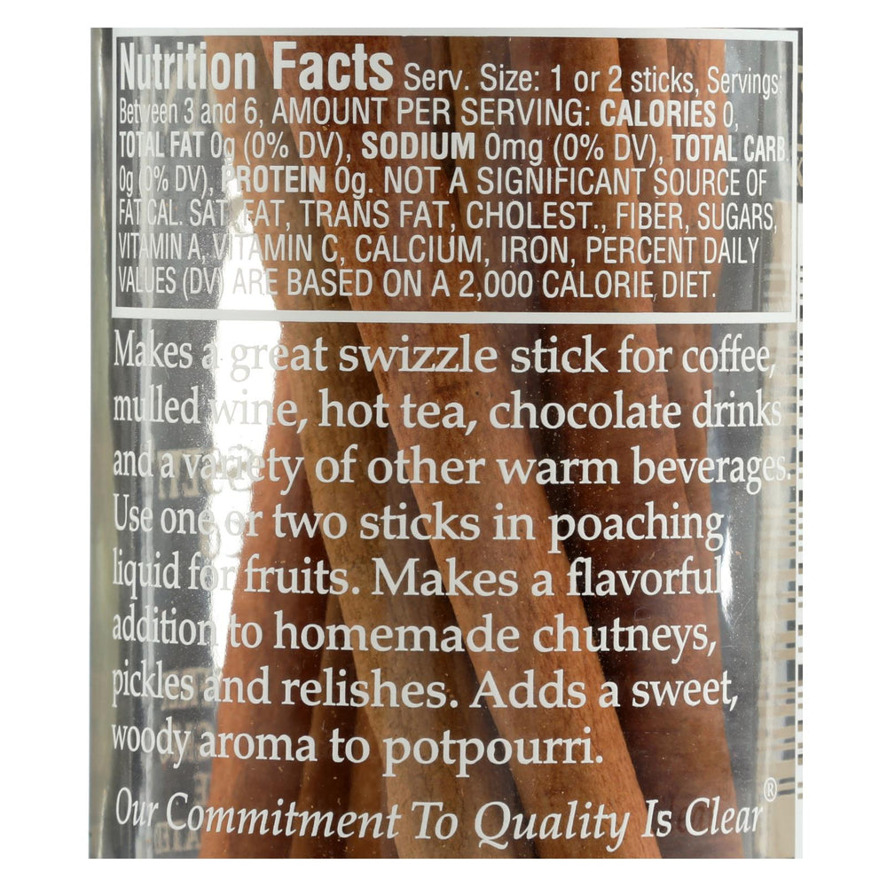 Morton And Bassett Cinnamon Sticks - 1 Oz - Case Of 3