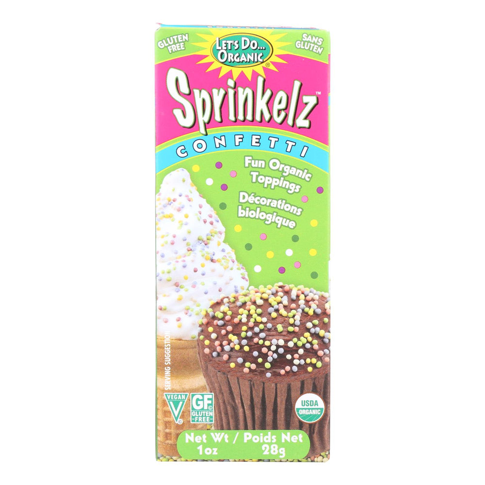 Let's Do Sprinkelz Dessert Toppings - Natural - Confetti - 1 Oz - Case Of 12
