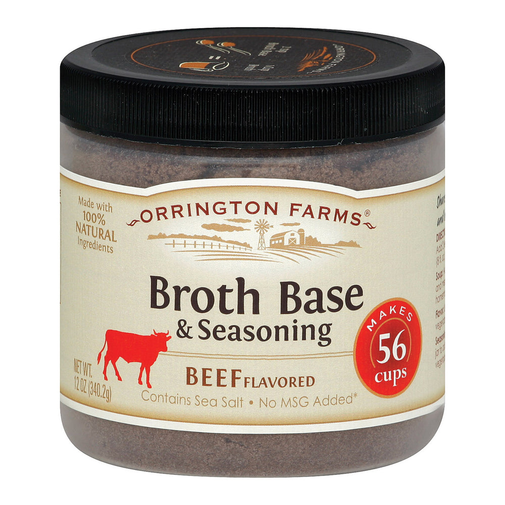 Orrington Farms Broth Base And Seasoning - Beef - Case Of 6 - 12 Oz.