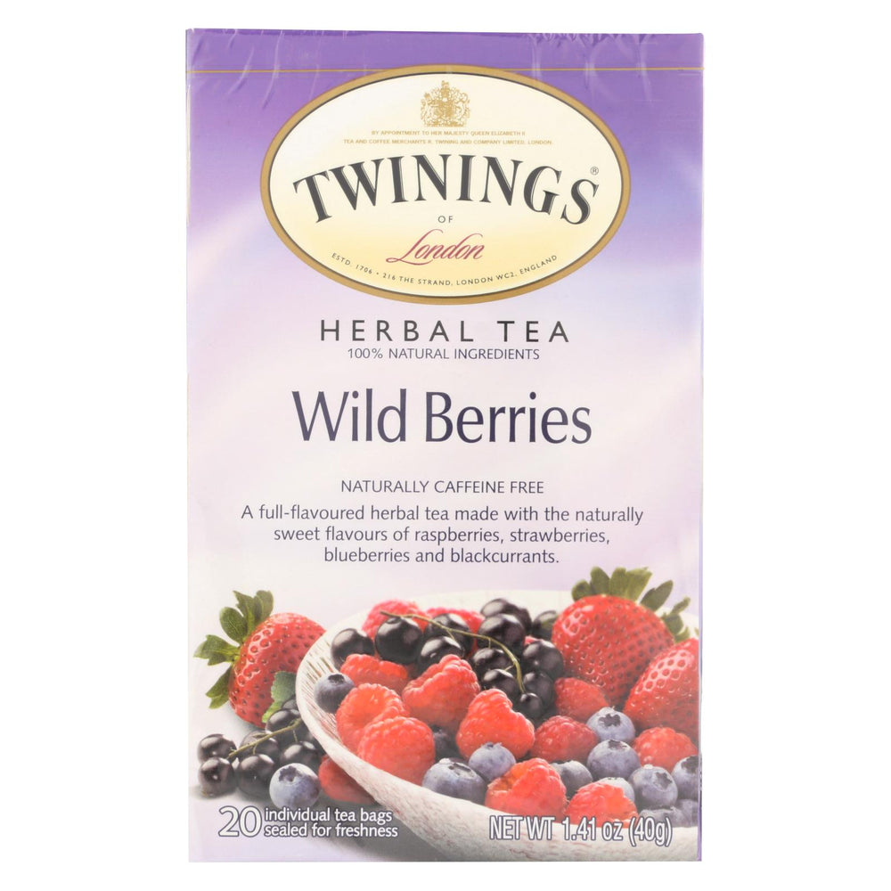 Twining's Tea Herbal Tea - Wild Berries - Case Of 6 - 20 Bags