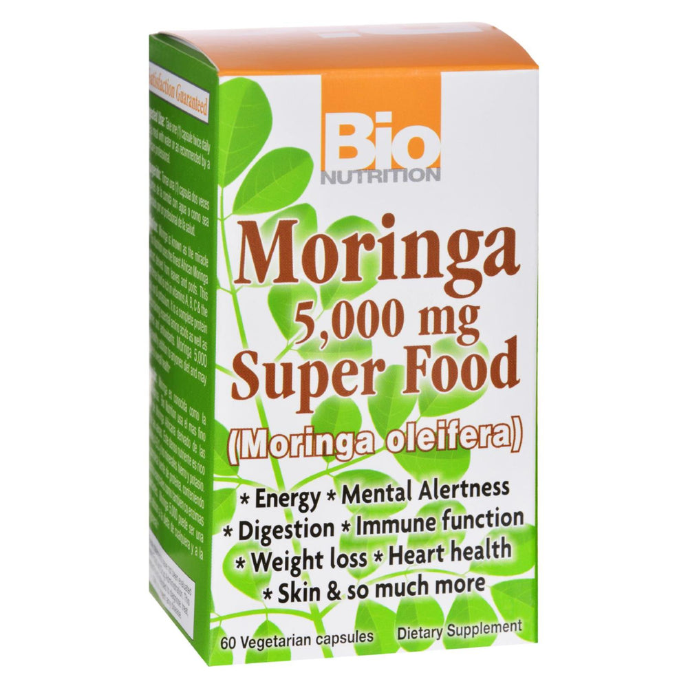 Bio Nutrition - Moringa 5,000 Mg Super Food - 60 Vegetable Capsules