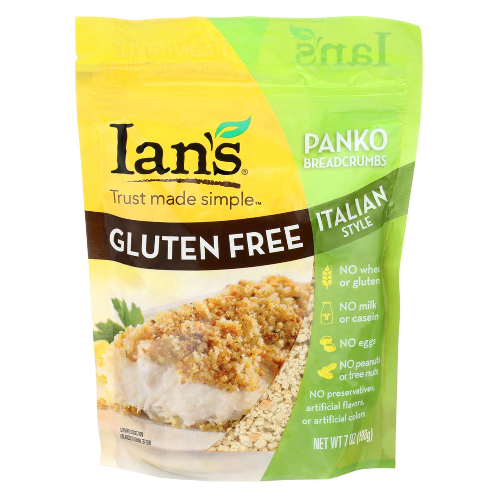 Ians Natural Foods Bread Crumbs - Panko - Italian Style - Gluten Free - 7 Oz - Case Of 8