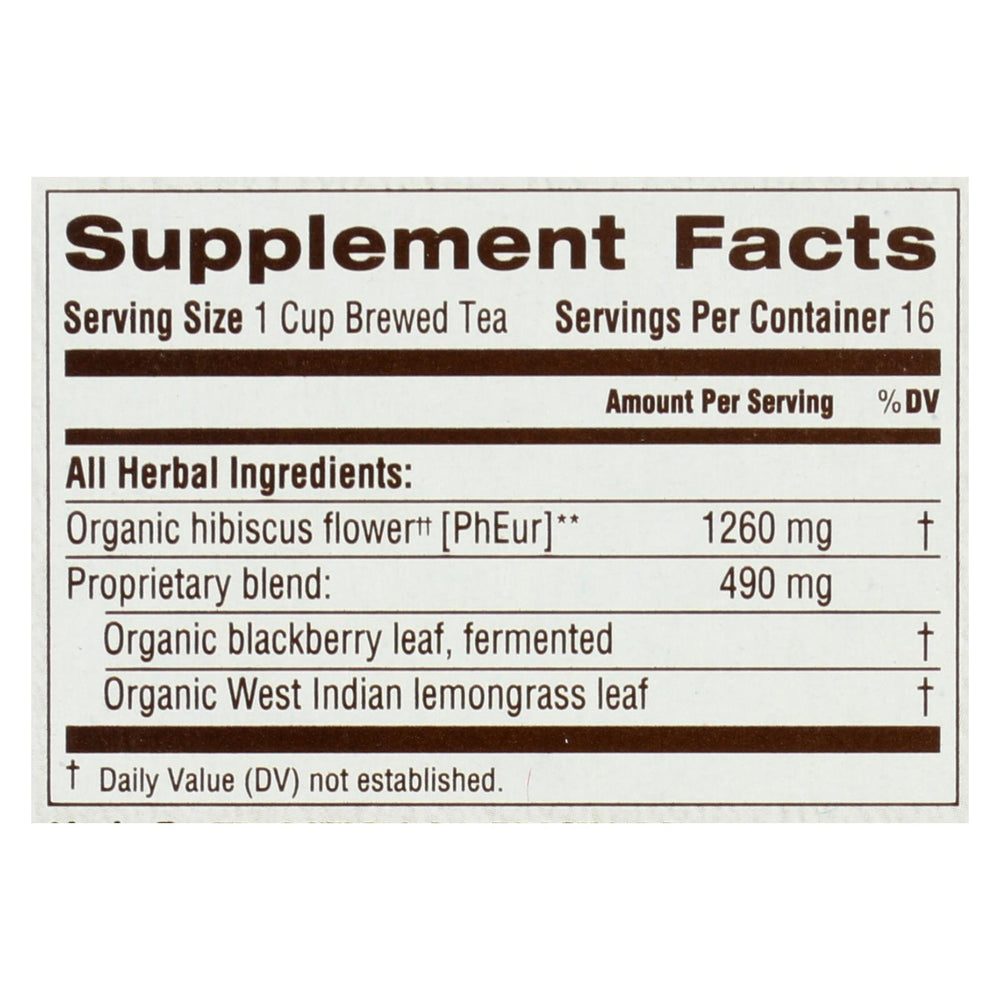 Traditional Medicinals Organic Herbal Tea - Hibiscus - Case Of 6 - 16 Bags